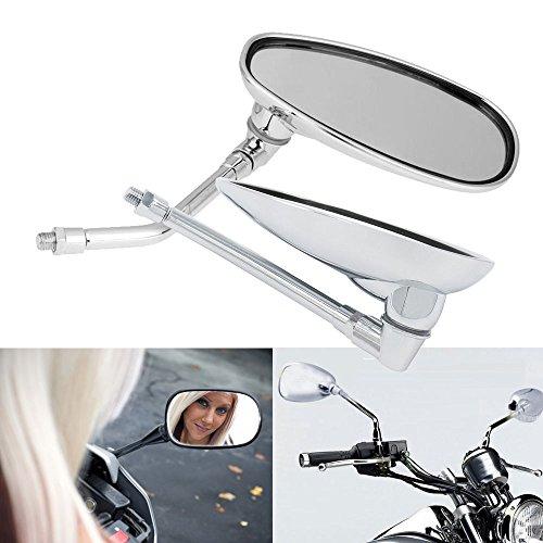 Frenshion Motocicleta Espejos Retrovisores Rearview Mirror Para Moto Honda Kawasaki Suzuki BMW KTM Truimph Hyosung Chopper Street Sport Bike Plata