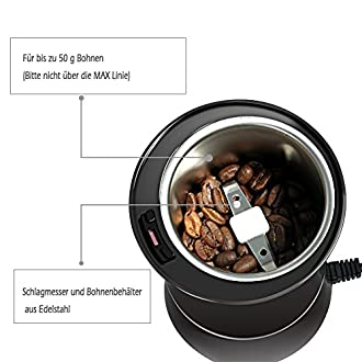Elektrische Kaffeemühle Bild