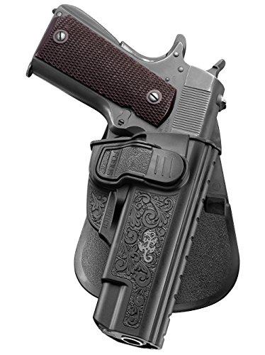 Fobus neu verdeckte Trage Pistolenhalfter Sicherungs Trigger Sicherheit Zuhaltungs system Halfter Holster für Smith und Wesson S&W 1911 Style Pistolen / Taurus 1911 / Remington 1911 R1, 9mm & .45cal / Springfield 1911 / Colt 1911 die alle ohne Schienen (Pistole Swat-team)