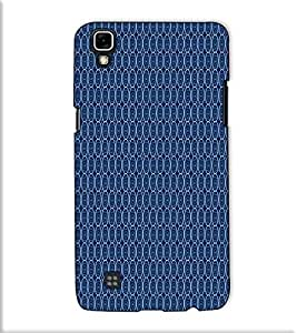 Fuson Designer Back Case Cover for LG X Power :: LG X Power K220DS K220 (Blue designer pattern theme)