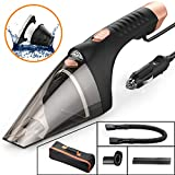 SONRU Car Vacuum Cleaner with LED Light, DC 12V 106W Wet/Dry Portable Handheld