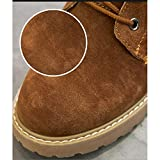 Autumn And Winter Snow Boots Wild Flat Bottom Plus Velvet Short Boots In The Tube Martin Boots (Color : Brown, Size : 5.5 UK)