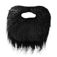 Adults / Kids Fancy Dress Pirate Style Beard (WORLD BOOK DAY) - Black (Black)
