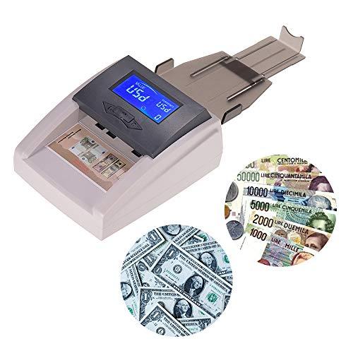 Portable Desktop Multi-Currency Contabile automatico Rilevatore di denaro Contraffatto Contante Moneta di banconote Checker Tester con display LCD Valore di denominazione per EURO USD