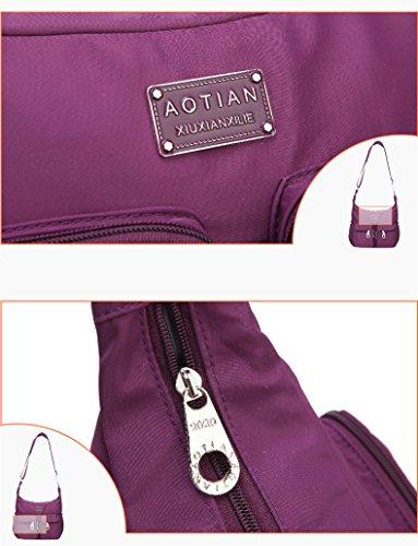 AOTIAN 6671#, Borsa a secchiello donna rosa C-ROSE small E-BLACK