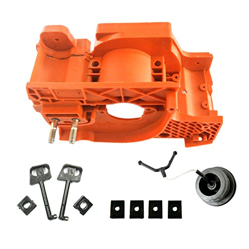 JRL schwarz Kurbelgehäuse Motor Gehäuse Öl Tank Gas Rod Passform für Motorsäge HUSQVARNA 137142 - Tank Gehäuse