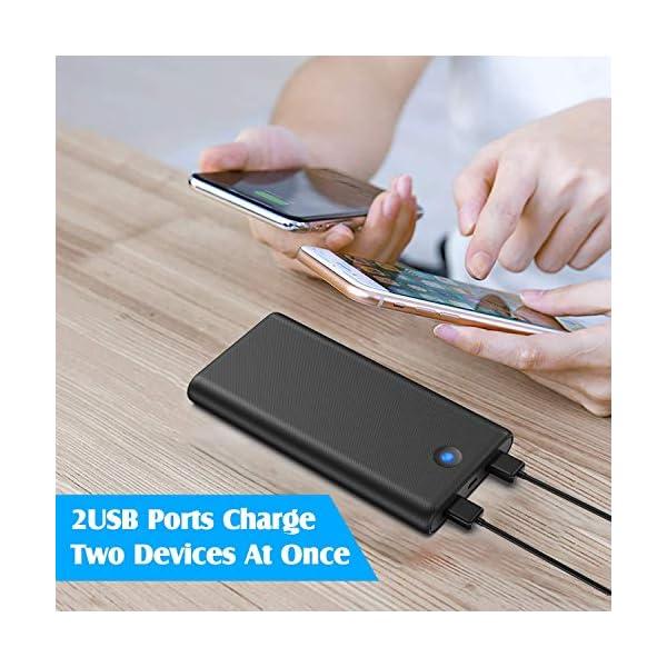 iPosible Power Bank,【Pulsanti Che Cambiano Colore-25800mAh】 Caricabatterie Portatile Batteria Esterna 2 Porte USB Uscita… 2 spesavip