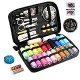 Qisiewell Kit Cucito Set per Cucire 235 Premium Accessori di Cucito 24 Rocchetto di Filo Color Arcobaleno Set Cucito A Mano Zipper Kit