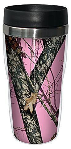 Tree-Free Greetings 16 oz Stainless Steel Pink Break Up by
