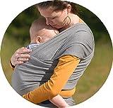 Babytragetuch ✮ elastisches Tragetuch Baby Carrier ✮ Tragetücher für Männer und Frauen ● Babytragen babytuch ● Halten Sie Ihr Baby am Herzen liegt - 5