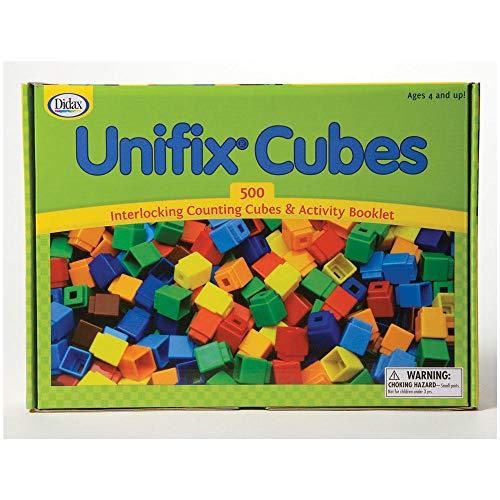 Unifix Cubes Box von 500–verschiedene Farben