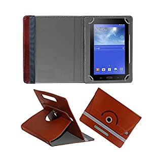 Fastway Rotating 360° Leather Flip Stand Cover For Samsung P1000 Galaxy Tab -Brown