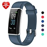 Lintelek Fitness Tracker Herzfrequenz Aktivität Tracker Farbdisplay Fitness Armband Fitness Uhr Armband Uhr Farbbildschirm Schlafmonitor Aktivitätstracker mit 14 Trainingsmodi Vibrationsalarm mit GPS