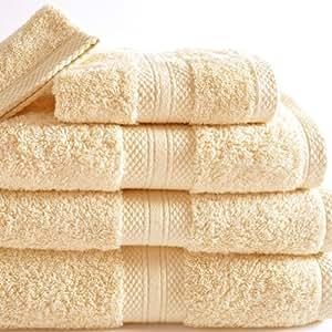 bouchara collection serviette de toilette eponge unie ecru 50x100 cm cuisine. Black Bedroom Furniture Sets. Home Design Ideas
