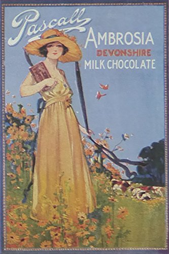 pascall-ambrosia-devonshire-milk-chocolate-advert-framed-picture-11-x-14