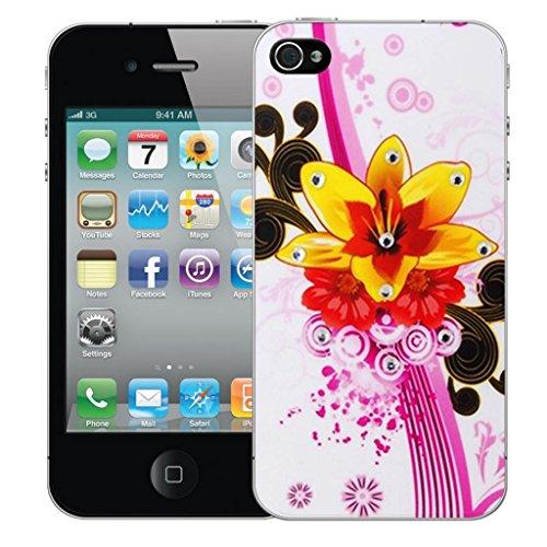 Mobile Case Mate iphone 5c clip on Dur Coque couverture case cover Pare-chocs - purple carnation Motif avec Stylet Jaune