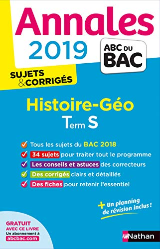 Annales ABC du Bac 2019 - Histoire-Géographie - Term S