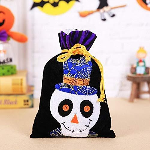 WSCOLL 1 Stücke 15 * 27 cm Vlies Halloween Candy Bag Hexe Skeleton Schädel Kürbis Katze Geschenk Tasche Für Kinder Party Supplies Trick Or Treat2