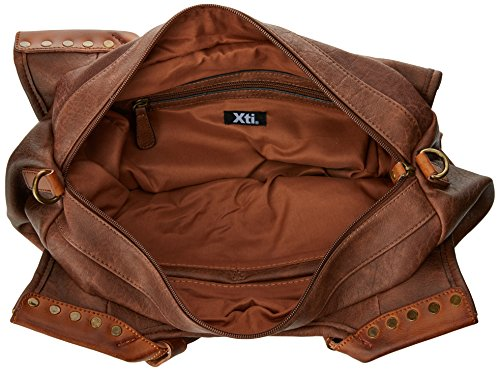 XTI 85864, Borsa a Spalla Donna, 43x26x12 cm (W x H x L) Marrone (Brown)