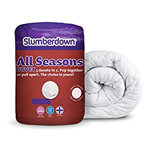 Slumberdown All Seasons 3-in-1 Duvet, White