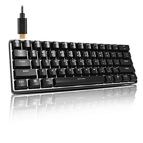 ACGAM AG6X Tragbare Tastatur TKL & Esports AZERTY, mechanisch, 63 Tasten, französisches Layout