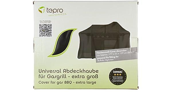 Tepro Gasgrill Highview Test : Tepro universal grillabdeckhaube für gasgrill extra groß schwarz