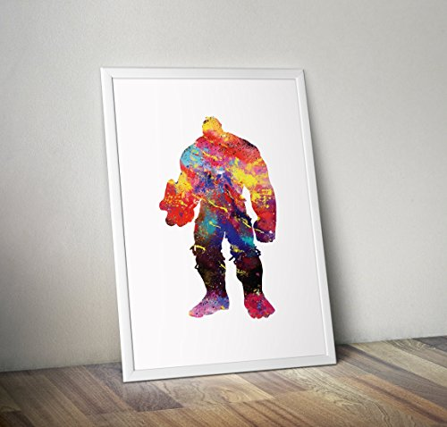 Hulk inspirierte Poster - Bruce Banner Aquarell Print - Alternative TV/Movie Prints in verschiedenen Größen (Rahmen nicht im Lieferumfang enthalten) -