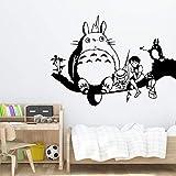 Bunte Totoro cartoon Wandkunst Aufkleber Moderne Wandtattoos Zitate Vinyls Aufkleber Für Jungen...