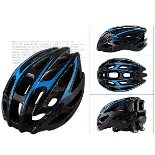 Casco da bici, ultralight 209 g copertura antipioggia per casco / visiera parasole rimovibile / leggero / confortevole / formato regolabile (57 ~ 62 cm) -bianco nero