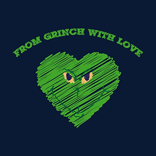 From Grinch With Love Christmas Men's Vest Navy Blue
