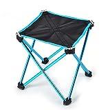 Alxcio Camping Hocker Faltbar Leicht Aluminium Klappbar Ultralight Anti-Rutsch Klapphocker Stuhl zum Wandern Angeln Reise