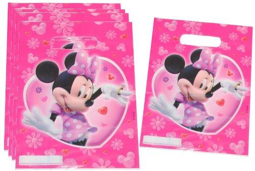 alles-meine.de GmbH 6 STK. Partytüten - Disney Minnie Mouse - Geburtstagstüten Folie Mitgebsel Tüten Tasche rosa Mädchen Disney / Geschenktüten - Taschen Geburtstag / Kindergebur.. (Mickey Geburtstag Minnie-maus Einladungen Und)