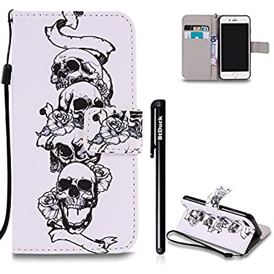 BtDuck Case For Apple iPhone 7 4.7 inch Phone Accessories Protector Cover Anti-slip Anti-scratch Skin Outdoor Protection Simple Strict Shockproof Slim-fit Lightweight Shell + 1 * Black Stylus Pen Black