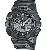 Casio Herren Analog/Digital Quarz mit Resin Armbanduhr GA 100CM 8AER