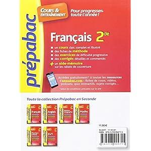 Lire En Ligne Francais 2de Prepabac Cours Entrainement