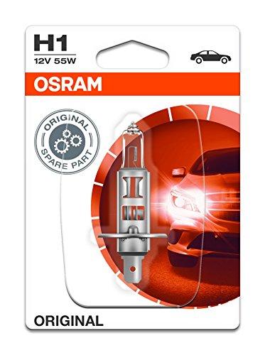 Osram ORIGINAL H1, Halogen-Scheinwerferlampe, 64150-01B, 12V PKW, Einzelblister (1 Stück)