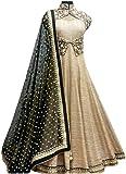 #10: D&J International Women's Bhagalpuri Silk Salwar Suit (cream suit _cream _Free Size)
