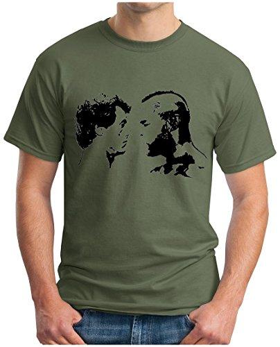 OM3 - ROCKY vs APOLLO - T-Shirt BALBOA CREED BOXER ITALIEN STALLION KULT SWAG EMO, S - 5XL Oliv
