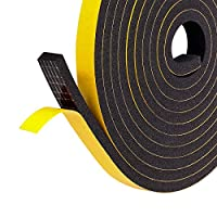 Fowong Strong Double Sided Adhesive Tape Black Foam Tape Assembly Tape for Factory Absorption Shock Absorption and Sound Insulation Shock Proof Box