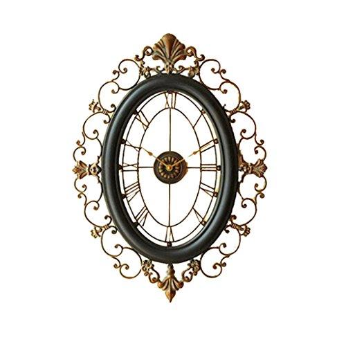Sunjun Europäische Stil Uhren und Uhren Wanduhr Wohnzimmer Große Eisen Kreative Wanduhr Retro Uhr Glocken Taschenuhr Mute Persönlichkeit -