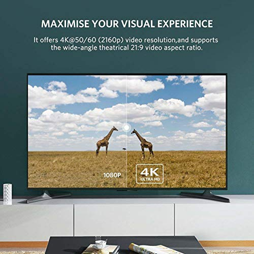iVoltaa High Speed 4K 60 Hz HDMI 2.0 Cable - 15 Feet (4.5 Meters) - Black