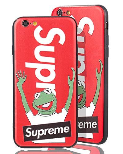 SUP Frog Case [ Passend für iPhone 6 Plus, in Rot ] Supreme x Kermit der Frosch Hülle - Fühlbares 3D-Motiv Cover (Iphone 6 Release-datum)