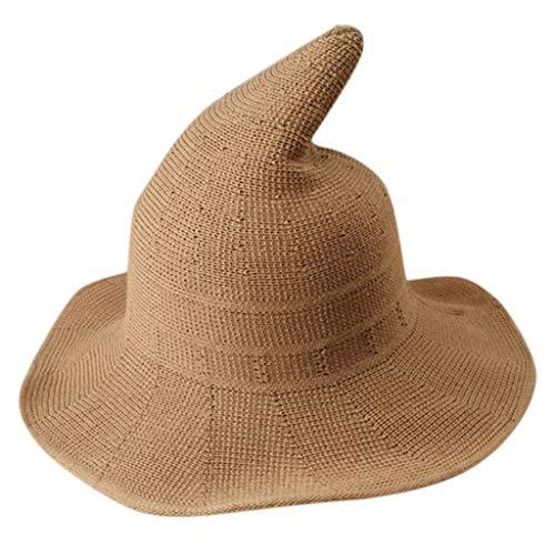 Zottom Mode-Hexe zeigte Becken-Eimer-Hut-Halloween-Baumwollstrickende Hüte für Frauen (Dallas Cowboys Kostüm Halloween)