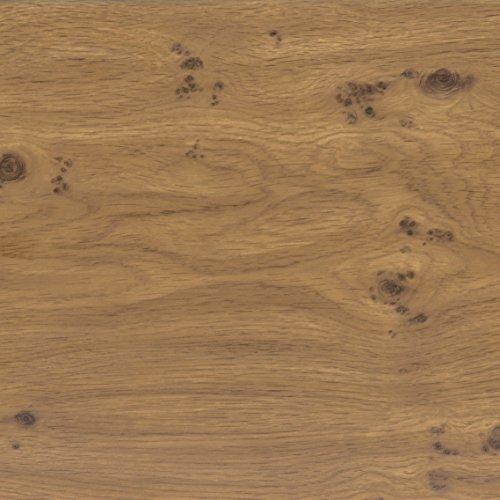 Klebefolie Perfect Fix® Eiche Astig Dekofolie Möbelfolie Tapeten selbstklebende Folie, PVC, ohne Phthalate, keine Luftblasen, Natur-Holzoptik braun, 45cm x 2m, Stärke: 0,15 mm, Venilia 53334