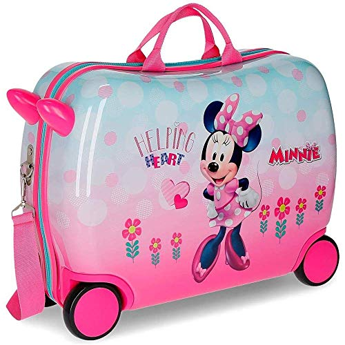 Trolley Minnie Mouse Heart Disney da Viaggio 4 Ruote TRAINABILE CM. 50X38X20 in ABS - 2379961