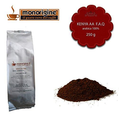 Caffè Arabica macinato fresco per espresso Kenya AA TOP 250 gr - Caffè Monorigine Arabica 100%