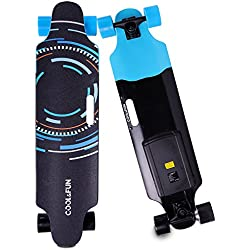 Cool & Fun HB11 Skateboard Eléctrico de 4 ruedas Monopatín con Control Remoto (KeJi)
