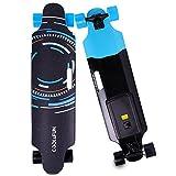 Cool&Fun Skateboard Elettrico Longboard con LG Batteria, con Telecomando Senza Fili (Tecnologia)