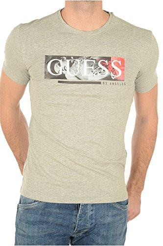 guess-jeans-t-shirt-maniche-corte-uomo-grigio