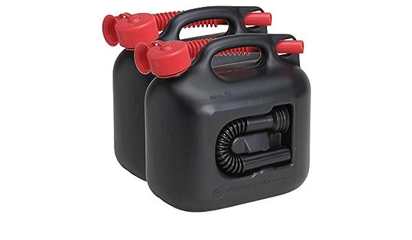 2x Benzinkanister Premium 5 Liter Inkl Benzin Dieselauslaufrohr En 2er Set Auto